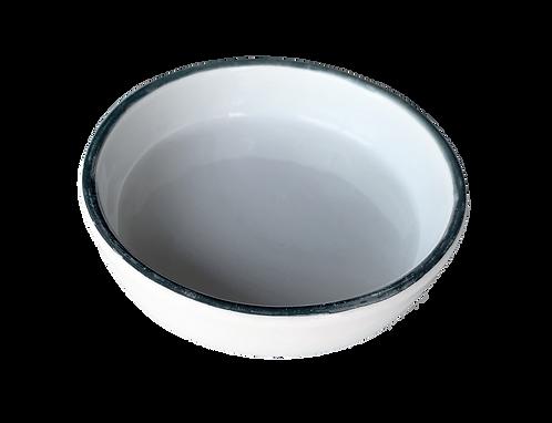assiette creuse bords métal S