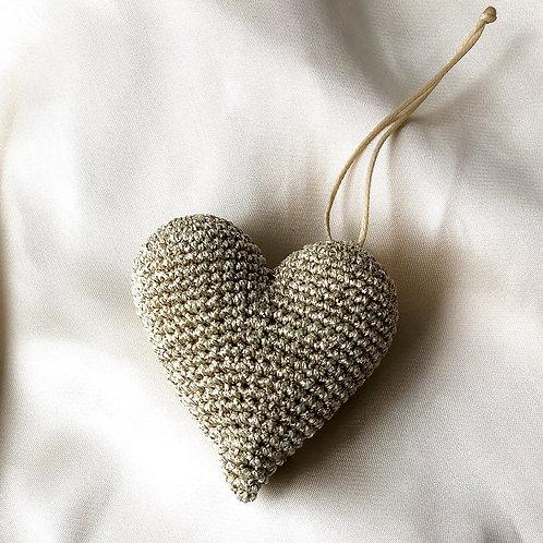 porte-clés coeur doré