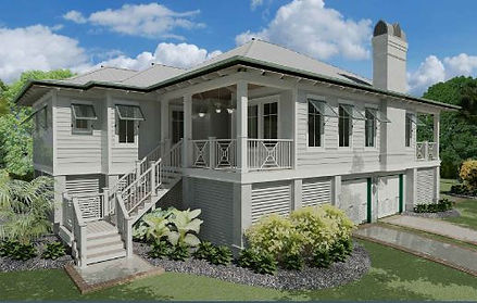 House Rendering-Island Style-Longboat Ke