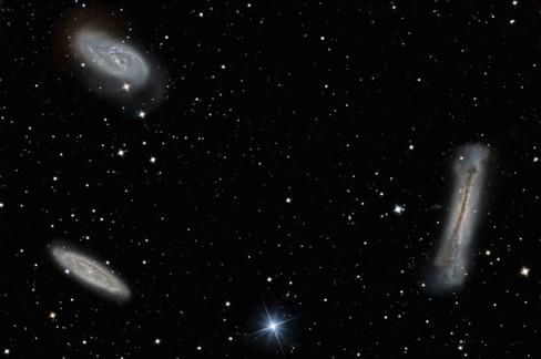 Galaxies M65, M66 & NGC 3628 - Le Trio d