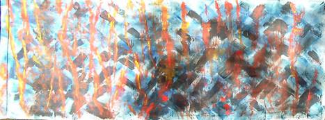 acrylique sur toile libre