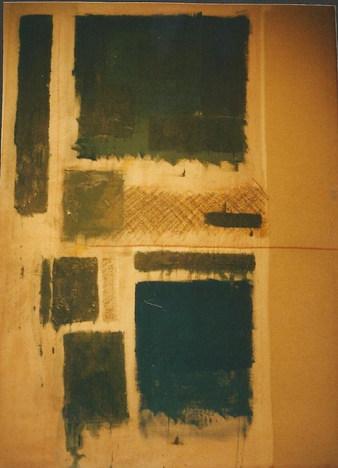 technique mixte sur toile tendue