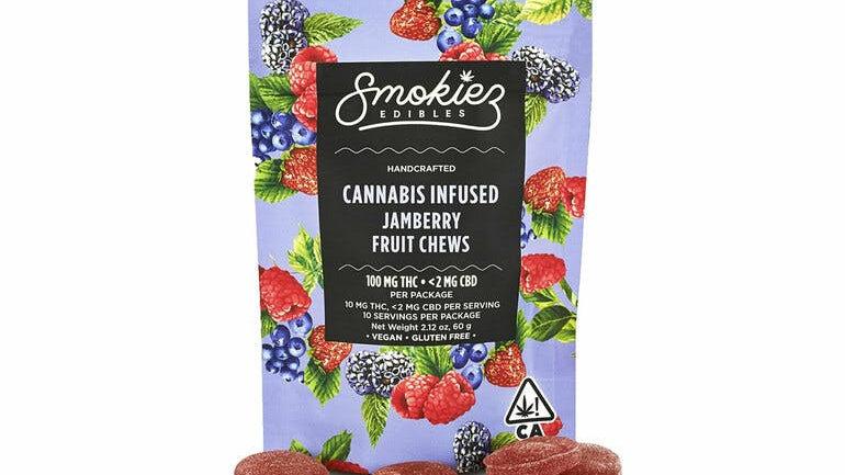 Smokiez Jamberry Gummiez, 100mg - CA