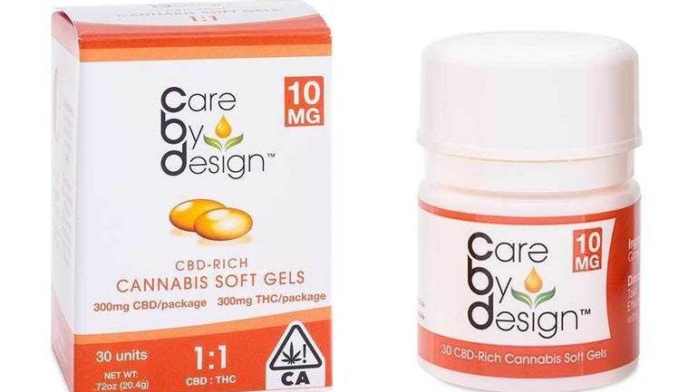 CBD Soft Gels 1:1 CBD/THC - 30 Soft Gels by Care By Design