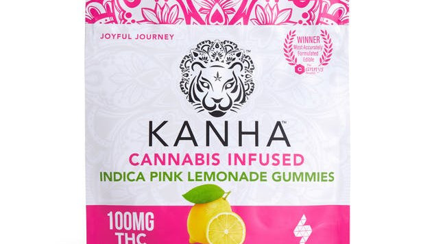 Kanha Indica Pink Lemonade Gummies 100mg