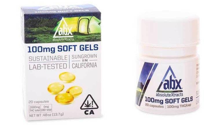 ABX - 100mg Soft Gels - 20 Capsules