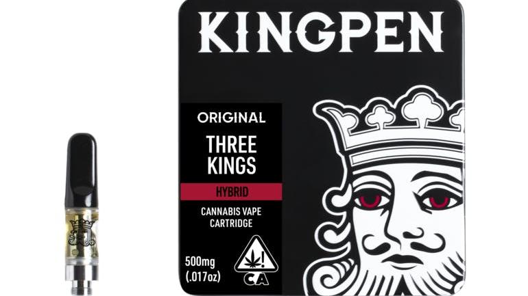 Kingpen Three Kings 1 Gram Vape Cartridge
