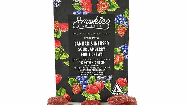 Smokiez Sour Jamberry Gummiez, 100 mg - CA