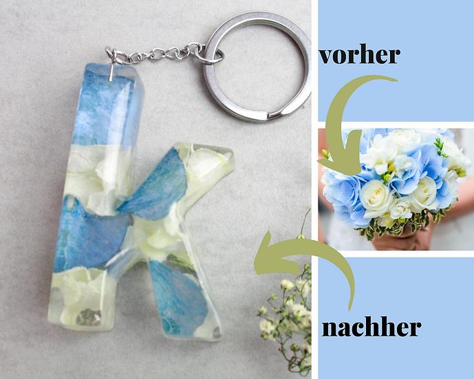 Schlüsseanhänger mit deinen Brautblumen