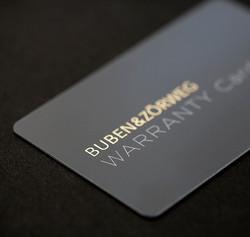 Carte de garantie