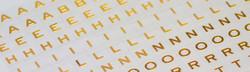 Alphabet en métal