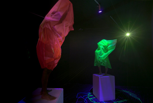 Ep 3. Textile sculptures being performed