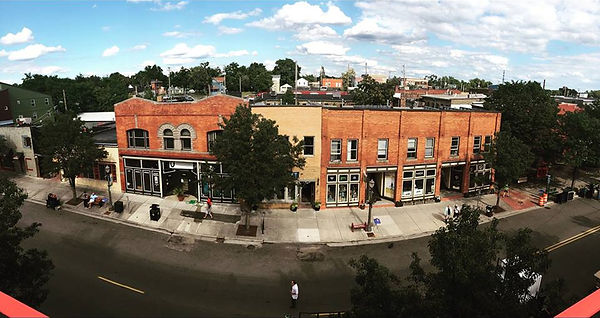 Panoramic view of Turner Street and MICA Gallery.