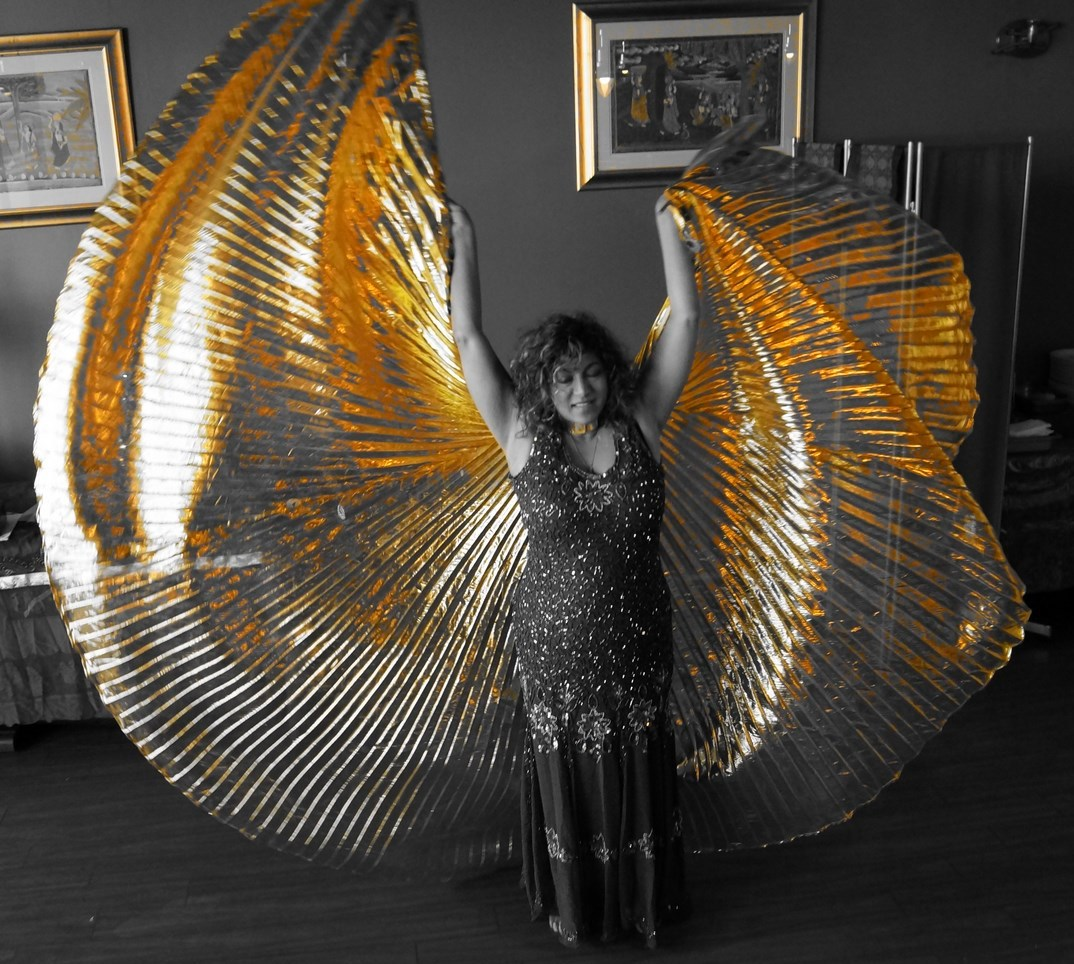 zahra with wings