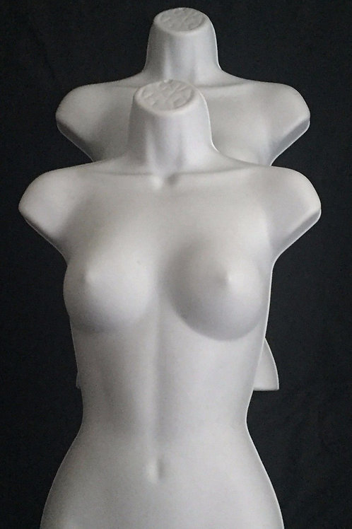 Large Plastic 1/2 Body Forms