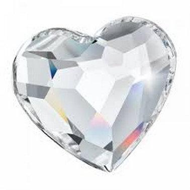 Coeur en cristal facetté - 50 mm