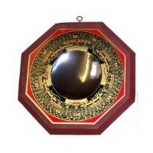 Miroir Pa Kua convexe style Luo Pan - 17 cm