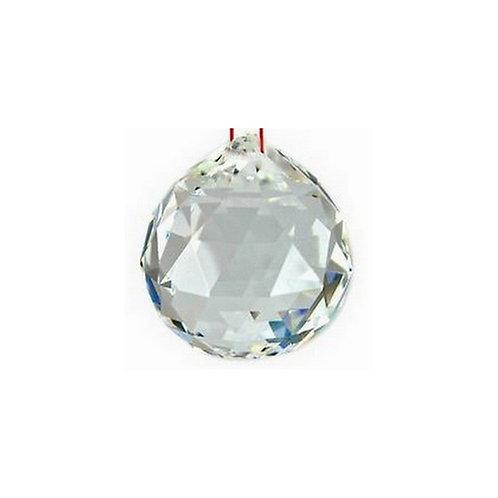 Boule de cristal à facettes - clair 40 mm