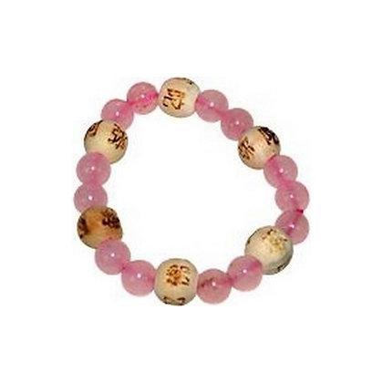Bracelet Perles de karma Kids - Quartz Rose