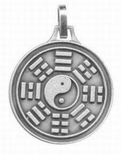 Médaille Ying et Yang -Vieil Argent - réf. 12797