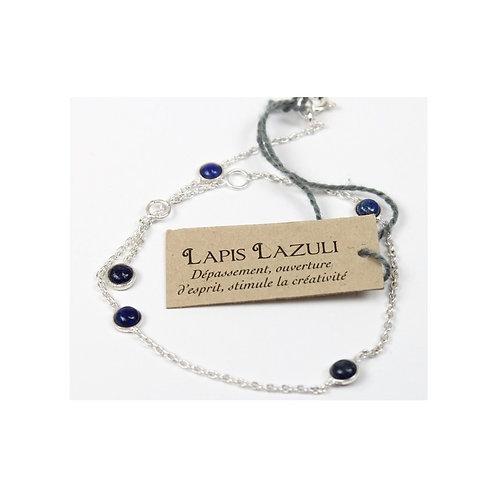 Bracelet en argent avec pierres de Lapis Lazuli