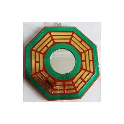 Miroir PaKua de protection - Vert et Rouge