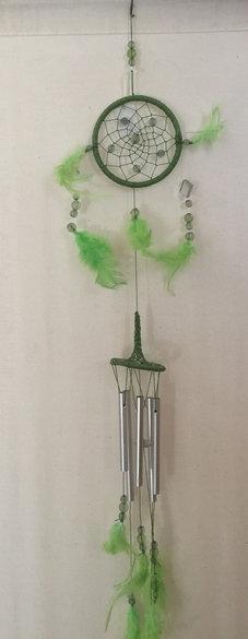 Attrape rêves Carillon 5 tubes - Vert