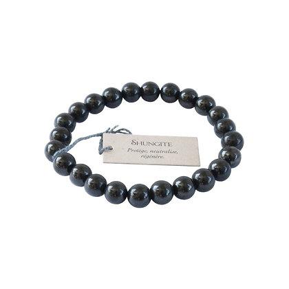 Bracelet perles rondes shungite