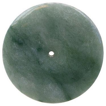 Pi chinois en pierre de Jade de Birmanie - 38 mm