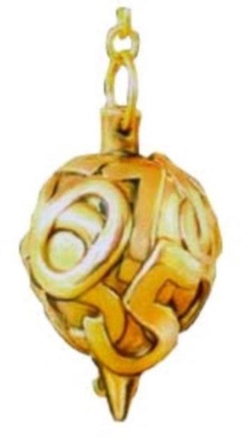 Pendule chiffre en laiton doré et or fin