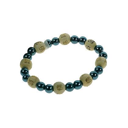 Bracelet perles de karma - Hématite