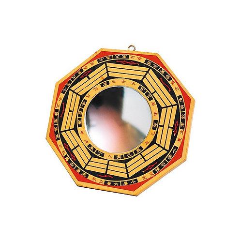 Miroir Pa Kua bois peint concave  -   grand modèle