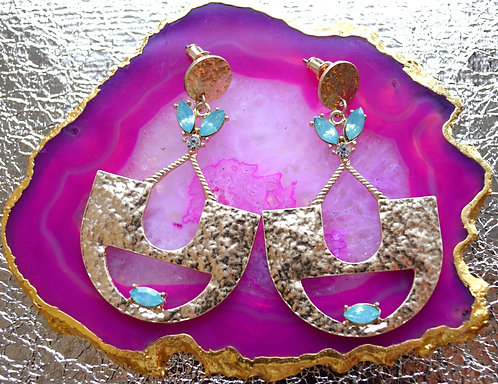 Indian Inspired Gold Drop Earrings