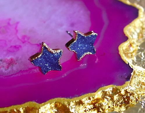 Super Star Stud Earrings in Indigo