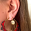 Thumbnail: Miyuki Beaded Hoop Earrings