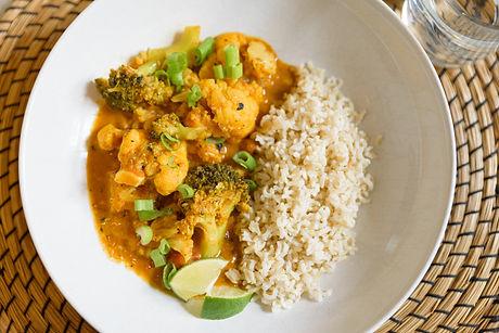 Dushi&  Simpel bloemkool broccoli curry