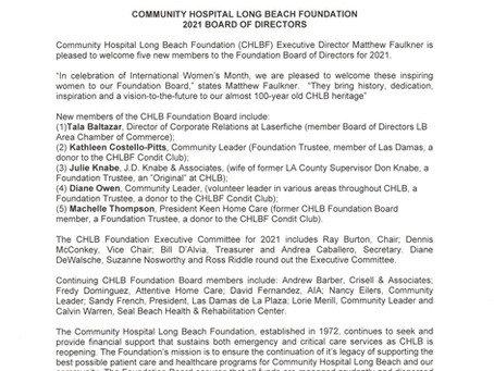 CHLB Foundation Adds Five New Board Members for 2021