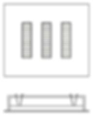 Embutido Retangular com PlacaLed de 34w, 68w ou 100w