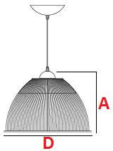 pendente acrilico medidas - 12 polegadas