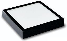Plafon Led Preto Quadrado Sobrepor 12w, 18w, 24w e 32w