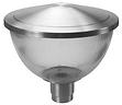 Poste com Luminária Decorativa Cônica em Acrílico - Alumínio Lixado