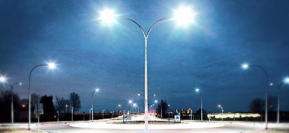 Luminária Led para Área Externa - Poste com Luminária de Rua