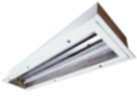 Luminária Embutir Sala Limpa para Lâmpada T8