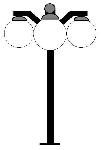 Poste Decorativo Girafa para 2 ou 3 Globos - Modelo com 3 globos na cor preta.