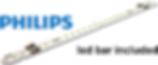 Barra de Led da Philips 19w ou 39w - Luminária Retangular com Aletas e Barra de Led 19w e 39w