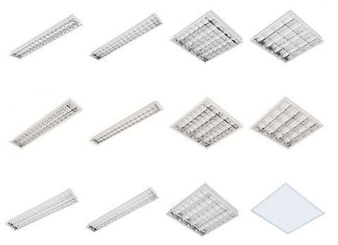 Fabricante e Distribuidor de Luminária Fluorescente, somos fabricantes, importadores e distribuidores de iluminação e lâmpadas fluorescentes comerciais para todo tipo de ambiente. Luminárias com aleta ou refletor parabólico, aleta plana branca de sobrepor