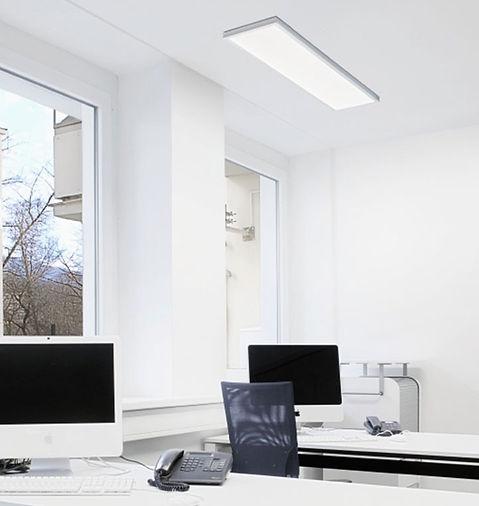 Luminária Sobrepor Retangular Led 300x1200 - Aplicação