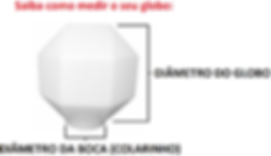 Globo de Plástico Prismático com Colarinho - Saiba como medir.