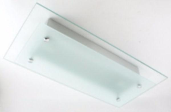 Plafon retangular sobrepor para lâmpadas modelo base E-27, para cozinhas residênciais ou áreas decorativas