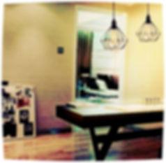 Pendente Arame Hannover Preto E-27 - Foto decorativo em cima da mesa